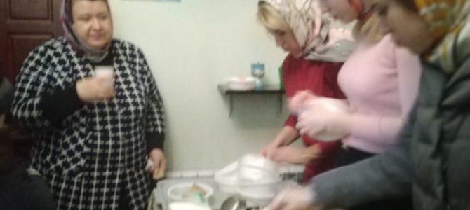 с 22 по 29 февраля 2020 года на приходе храма прп. Серафима Саровского состоялись благотворительные обеды