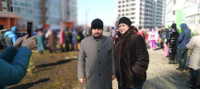 1 марта 2020 года настоятель храма протоиерей Сергий Гришин после божественной Литургии и чина прощения посетил праздничные мероприятия, посвященные празднику Масленицы.