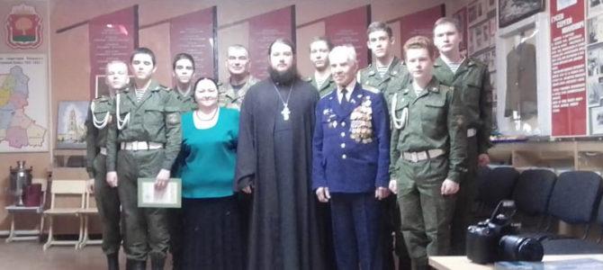 4 марта Священник поздравил кадетов со вступлением в историко-патриотическую организацию «Наследники Александра Невского»